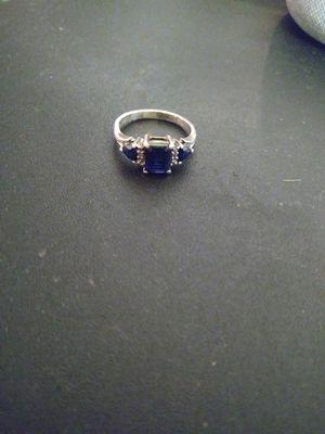 Silver 925 Sapphire ring for Sale in Chicago Ridge, IL