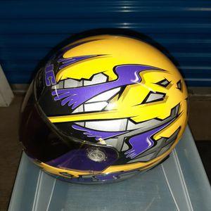Purple And Gold HJC Adult Motorcycle Helmet With Bag for Sale in Woodbridge, VA
