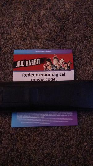 JoJo Rabbit Blu Ray digital code for Sale in Tracy, CA