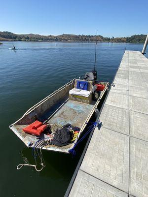 14ft Ski barge boat with 40hp mercury motor for Sale in Glendora, CA