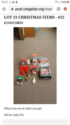 LOT # 13 CHRISTMAS ITEMS for Sale in Lynchburg, VA