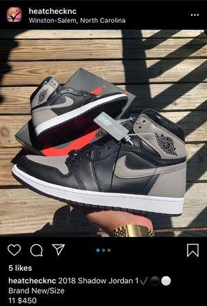 Shadow 1's Jordan for Sale in Winston-Salem, NC