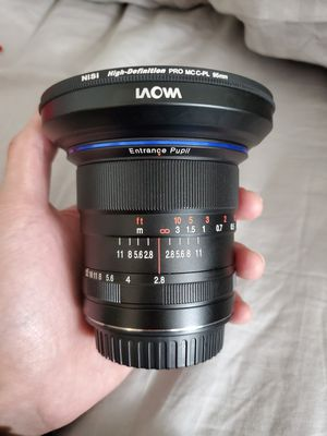 laowa 12mm f2.8 canon ef with af chip for Sale in Springfield, VA