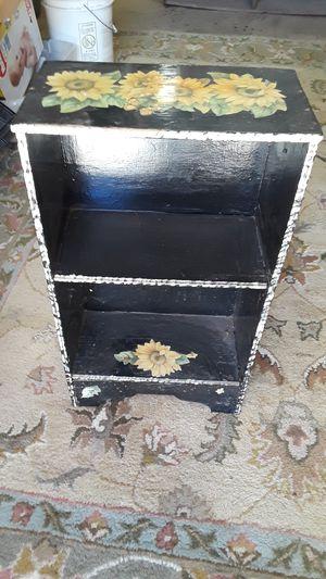 Small black floral shelf for Sale in Stockton, CA