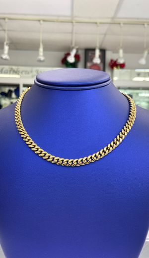 14k -YELLOW- GOLD CUBAN LINK CHAIN- 27INCHES-79.4Grams *SOLID* for Sale in Valley Stream, NY