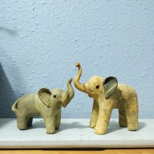1960's Handcrafted Elephant Decor Figurines for Sale in Pinellas Park, FL