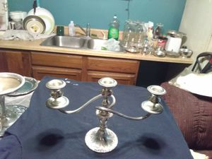 Pair of 3 holder candelabra over 80 years old for Sale in Prescott Valley, AZ
