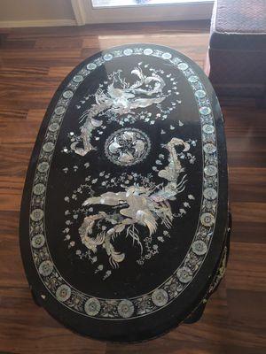 Korean inlaid seashell coffee table for Sale in Peoria, AZ