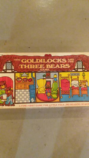 Goldilocks and the three bears board game for Sale in Dorchester, NJ