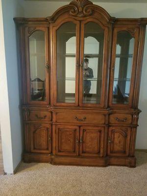 Furniture of America Fellin Multi-Storage Hutch in Antique Cherry for Sale in Vancouver, WA