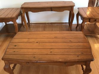 Solid Wood Living Room Table Set Indonesia for Sale in Fountain Valley,  CA