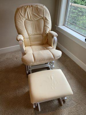 Glider rocker chair with ottoman for Sale in Kirkland, WA