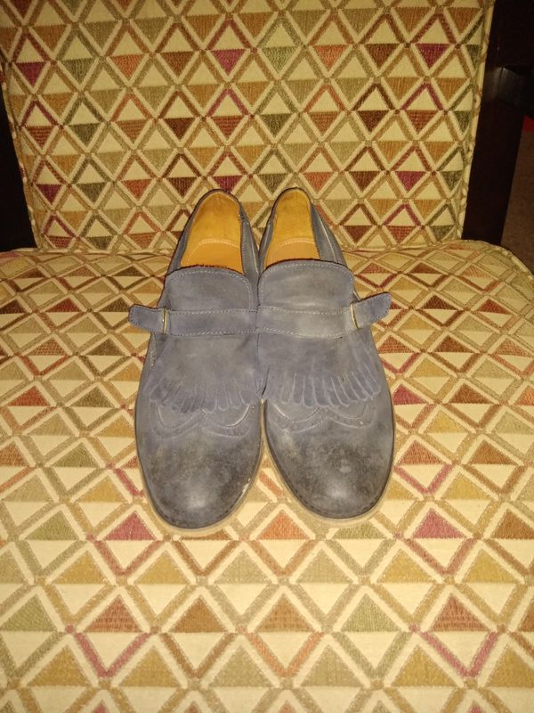 Blue Suede Blackstone loafers