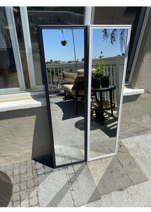 """Black or white mirror 49.5"""" x 13.5"""" Great for rooms. Can deliver San Diego county $5-$10 for Sale in San Diego, CA"""