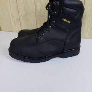 Thinsulate Brahma Black Genuine Leather Steel Toe Mens Work Boots Size 1e X Wide for Sale in Redmond, WA