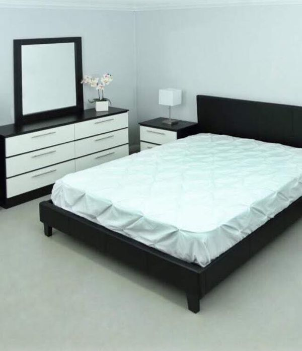 Brand new leather full or queen 4 pc bedroom set no mattress also in king $500