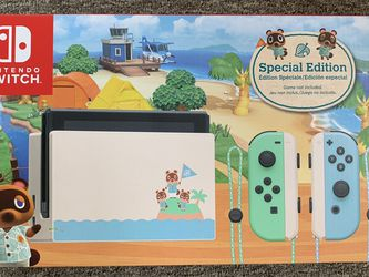 New Nintendo Switch V2 Animal Crossing Special Edition for Sale in Lynnwood,  WA