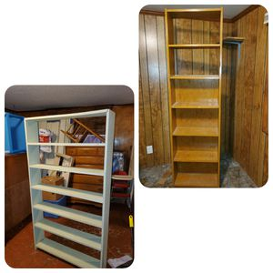 2 wood bookcases for Sale in Memphis, TN