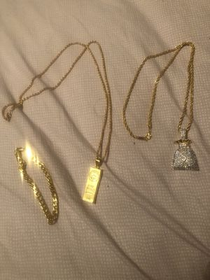 Gold plated chains and bracelet for Sale in Seattle, WA