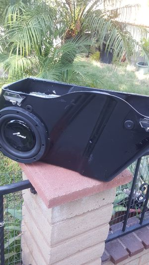 Two Harley Davidson motorcycle saddle bag with speaker for Sale in Long Beach, CA