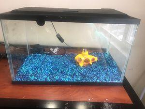 15 gallon fish tank for sale , comes with pebbles and a decorative piece. for Sale in Murfreesboro, TN