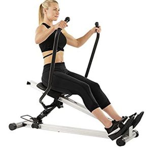 Sunny Health & Fitness Incline Full Motion Rowing Machine Rower with 350 lb Weight Capacity and LCD Monitor for Sale in Dublin, OH