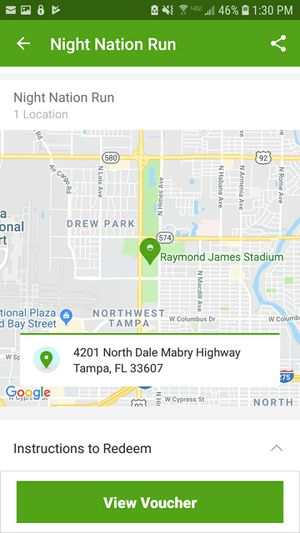 Night Nation Run ticket for Sale in Tampa, FL