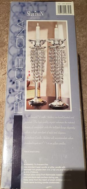 Barcelona Crystal Candle Holder pair for Sale in Tualatin, OR