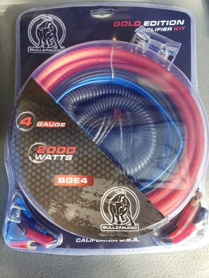 Amplifier wiring kit 4 Gauge for Sale in National City, CA