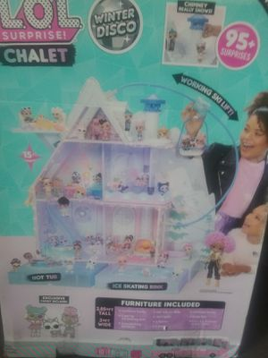 O.L. Surprise! Winter Disco Chalet Wooden Doll House with Exclusive Family & 95+ Surprises for Sale in Las Vegas, NV