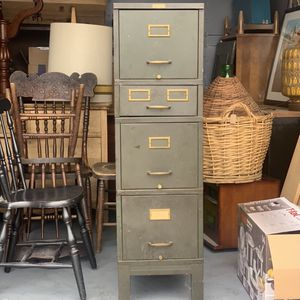 Vintage Metal Green Filing Cabinet for Sale in Oregon City, OR