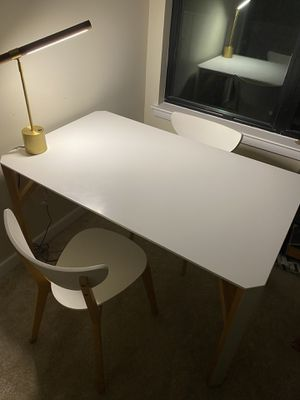 CB2 Modern Table Set (with two chairs) for Sale in Falls Church, VA