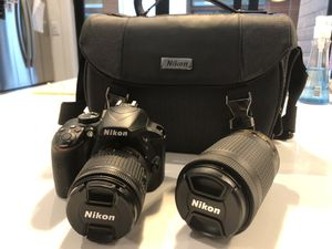 NIKON D3400 CAMERA WITH EXTRA LENS for Sale in Dallas, TX