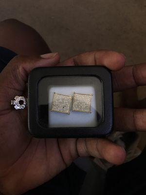 Gold & Diamond Earrings 10cm for Sale in Phoenix, AZ