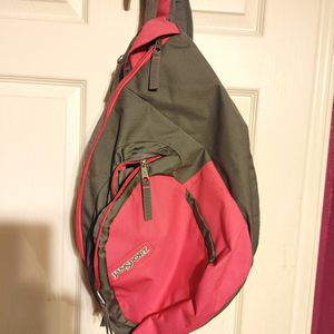 Jansport Sling Backpack (Pink/Gray) $25 OBO for Sale in San Antonio, TX