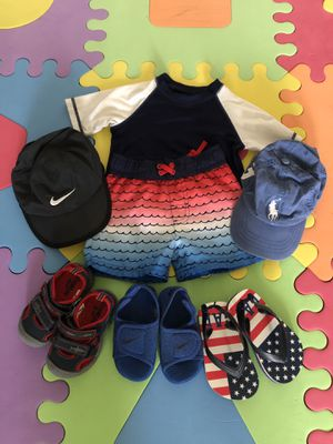 Baby Boy Swimsuit and Shoes for summer 12-18 months for Sale in Alexandria, VA