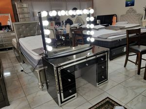 BRAND NEW VANITY MIRROR IMPRESSIONS ONLY ADD MATTRESS AND NEW FURNITURE AVAILABLEsed for Sale in El Monte, CA