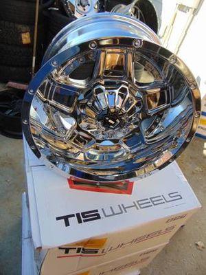 Brand New Chrome 18X10 TIS Rims *8X170 FORD* *-25MM Offset* for Sale in Aurora, CO