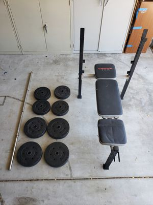 WEIDER Bench Bar and Weights set for Sale in San Diego, CA