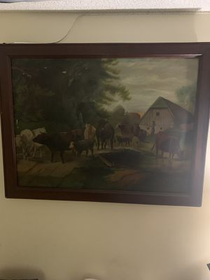 1890 cow painting for Sale in Virginia Beach, VA