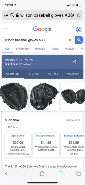 A360 Wilson Baseball Glove for Sale in Martinez, CA
