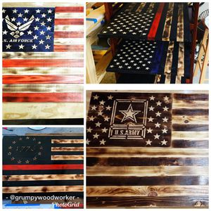Veteran made wooden American flags for Sale in Ormond Beach, FL