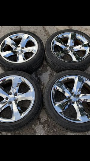 "20"" Dodge Stock rims & tires. ***Rims in great condition ***tires with good tread. ***Will fit any 5 lug Dodge Charger or Dodge challenger, Chrysle for Sale in Dallas, TX"
