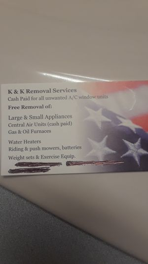 FREE AIR CONDITIONER REMOVAL AND ALSO ANY APPLIANCE for Sale in Lebanon, PA