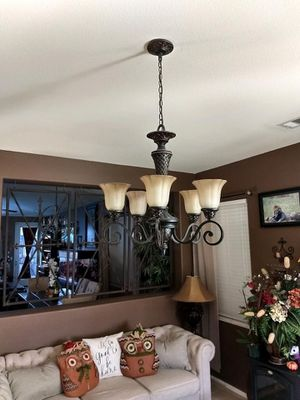 Chandelier and bar light for Sale in Victorville, CA