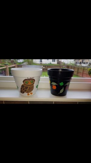 """5 Hand Painted 4"""" Windowsill Flower Pots ($10 each) for Sale in Canal Winchester, OH"""