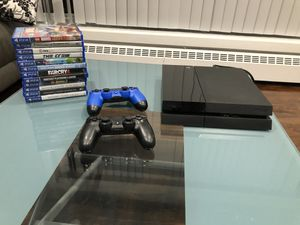Ps4 with 2 controllers and over 10 games negotiable for Sale in Staten Island, NY
