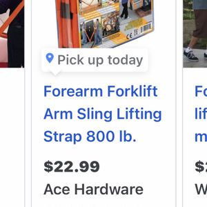 Paid $24 / Sell $18 Forearm Forklift Lifting Straps for Sale in Moreno Valley, CA