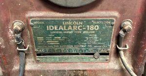 Lincoln Idealarc-180 Welder!! for Sale in Marion, MI