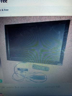 """24"""" TV. Works but rarely powers on for Sale in Glenarden, MD"""
